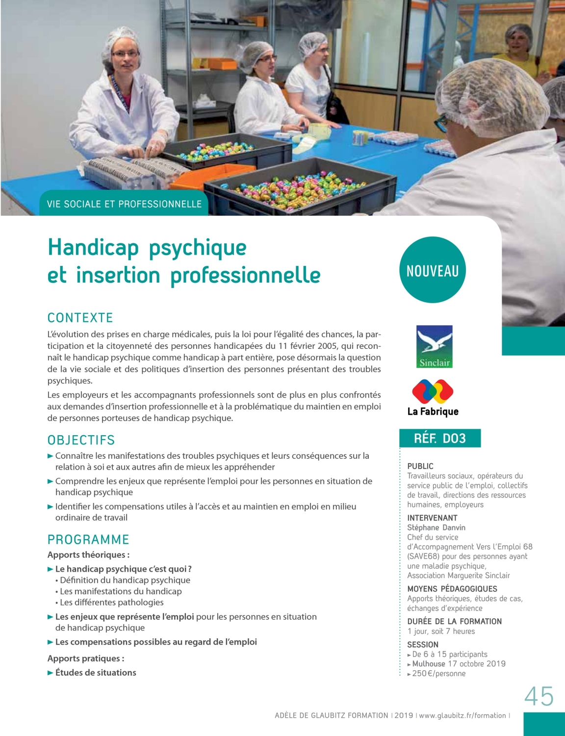 Catalogue de formation 2019
